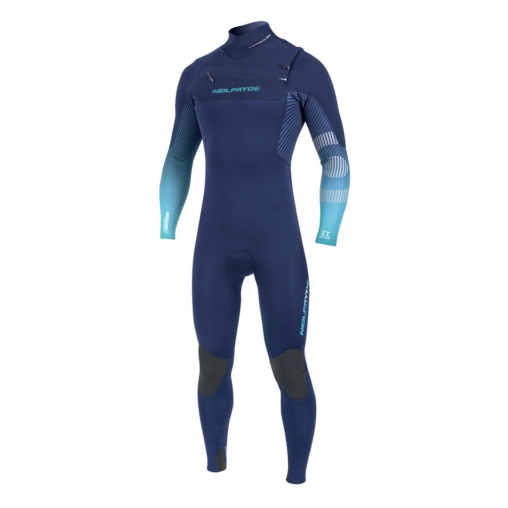 MISSION FULLSUIT FRONT ZIP 5/4/3 ICE BLUE