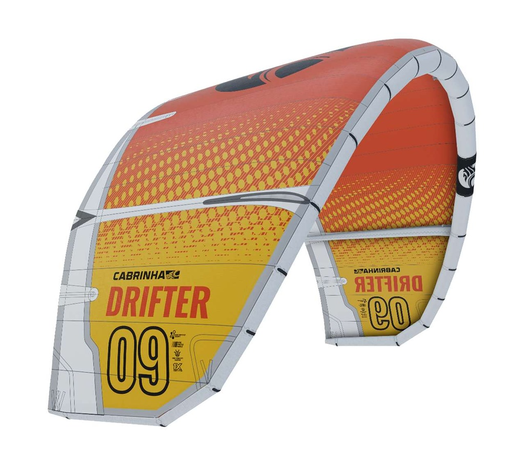 DRIFTER KITE ONLY 2021 WHITE/YELLOW